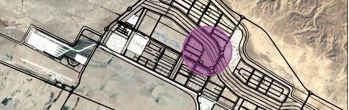 Construction site of Lamerd Magnesium Oxide Factory